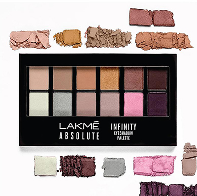 Lakme Absolute Infinity Eyeshadow Palette - Soft Nudes