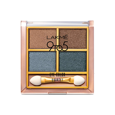The Lakme 9 to 5 Eye Color Quartet Eyeshadow - Smokey Glam